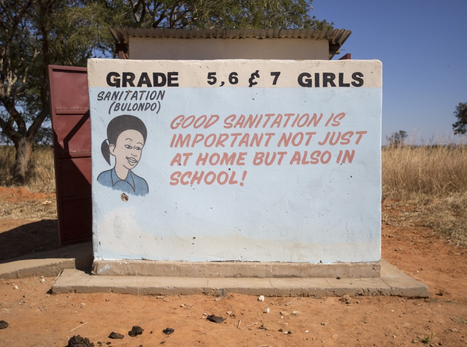 The new girls toilet built by World Vision with funds from western sponsors at Mutala Primary School in Kalomo district in Zambia, on June 16, 2016. --  (Crystal Schick/Independent Photojournalist)