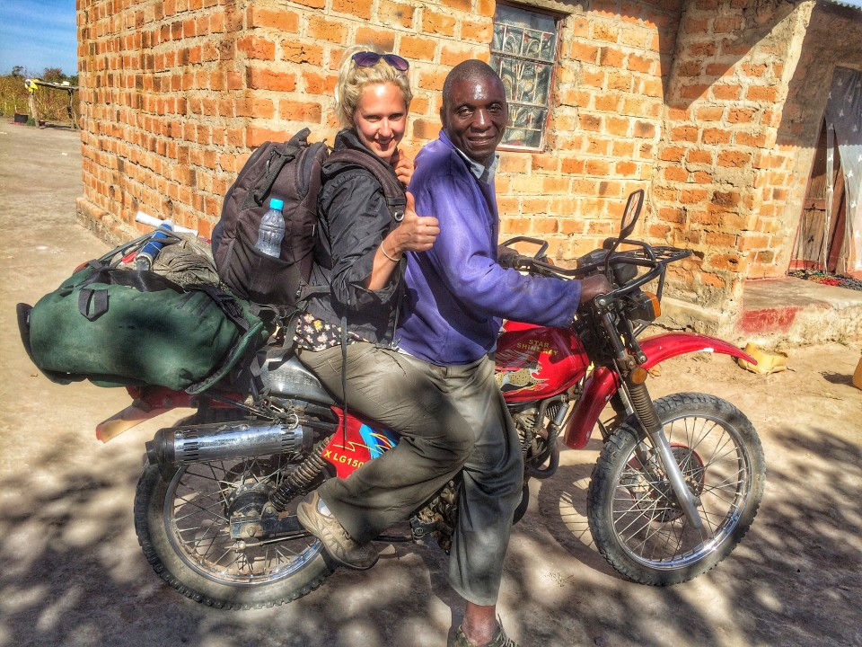 Getting comfortable with my ride heading back to town, starting about 30 minutes outside Chibombo in Zambia, on June 9, 2016. -- (Crystal Schick/Independent Photojournalist)