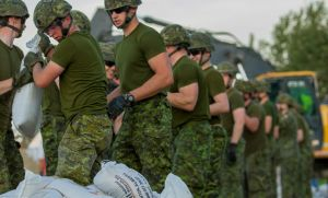 Canadian Armed Forces sandbagging